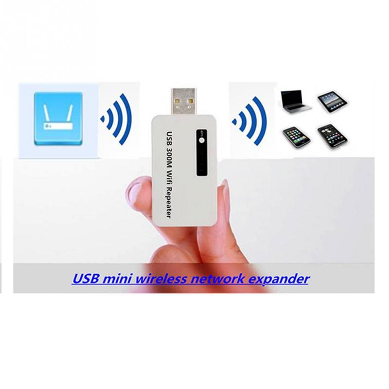300M Wireless USB WiFi Repeater Network Router Signal Range Extend Amplifier For Home Office High Quality