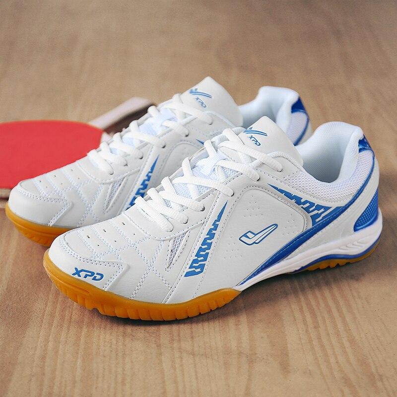 Мужская обувь унисекс для профессионального настольного тенниса; Нескользящая дышащая обувь для тенниса; женские кроссовки для тренировок в помещении; обувь для гандбола - Цвет: Royal blue