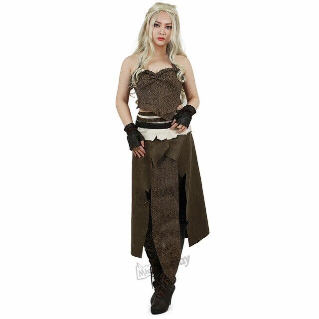 Daenerys Costume Brown Cosplay Halloween 2