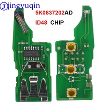 Jingyuqin 5K0837202AD مع ID48 دائرة مفتاح بعيد الإلكترونية لشركة فولكس فاجن بيتل/العلبة/Eos/جولف/جيتا/بولو/شيروكو/تيجوان/توران/UP