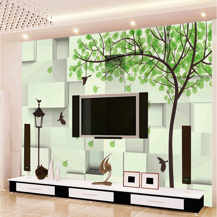 Modern Minimalist Wallpaper Seamless Wall Cloth Living Room Bedroom Sofa TV Background Wallpaper 3D Whole Piece Mural