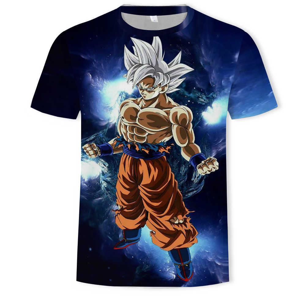 Super Saiyan 3D T-shirt Anime Dragon Ball Z Goku Zomer Mode Tee Tops Mannen/Jongens Master Roshi Print Kleding cartoon T-shirt