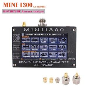 Analisador mini1300 da antena do hf/vhf/uhf de maxgeek 4.3 polegadas 0.1-1300mhz com 4.3