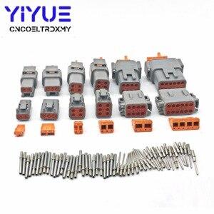 Image 3 - Deutsch DTM 2 12P DTM06 2/3/4/6/8/12S DTM04 2/3/4/6/8/12P 16 22awg wodoodporne złącze z solidnymi kołkami Automotive Sealed Plug