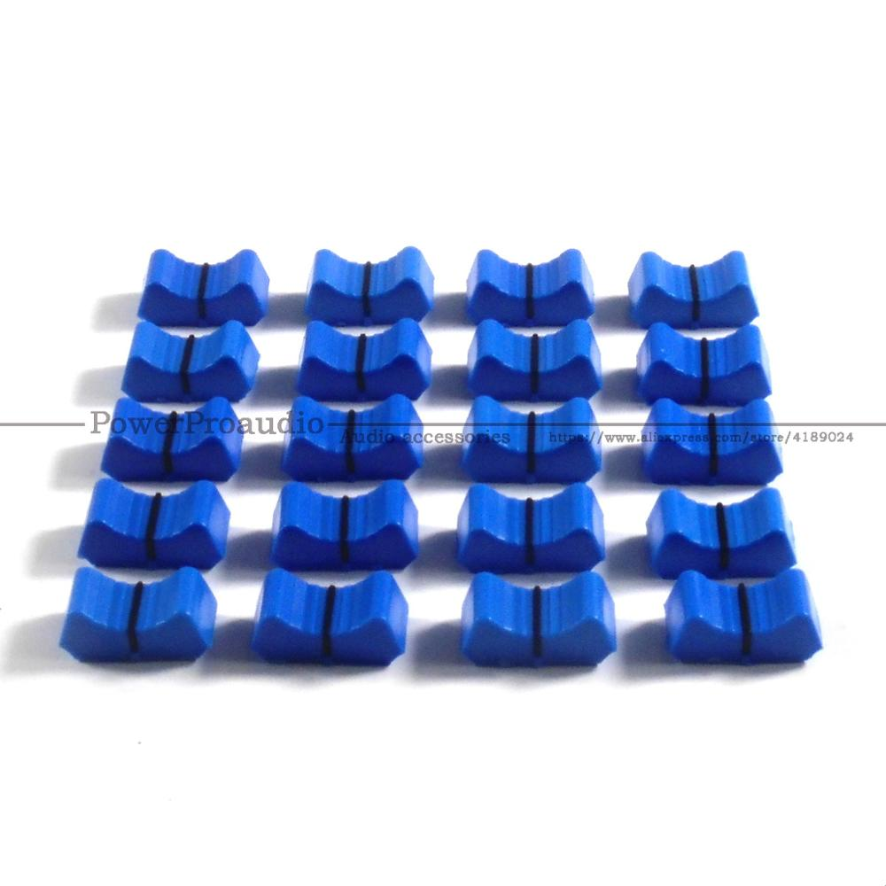 20pcs Mixer Fader Slider Fader Knobs Replace FOR ALLEN & HEATH XONE 1D 2D 3D 4D 32 62 464 S2 Blue Color