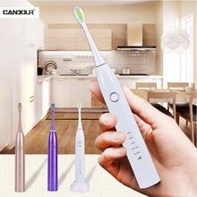 Соник Электрическая зубная щетка аккумуляторная со взрослыми IPX8 водонепроницаемый вибрации USB на ToothbrushUltrasonic отбеливающий