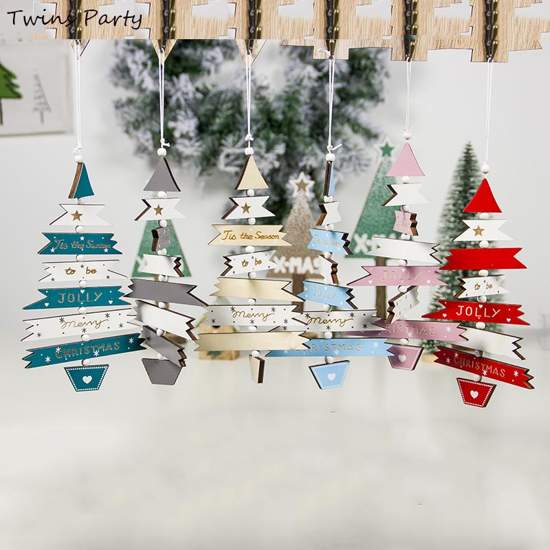 Twins Party  Christmas Decoration Hanging Ornament Xmas Tree Pendant 2020 Wooden
