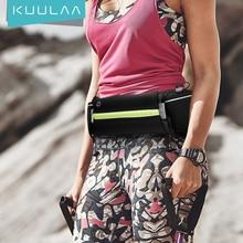 KUULAA riñonera deportiva ultradelgada impermeable para exteriores, bolso para teléfono, riñonera para hombre y mujer