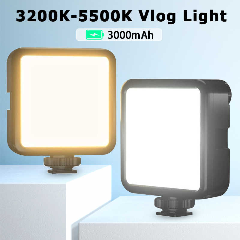 Ulanzi VIJIM VL81 3200K-5600K 850LM 6.5W Dimmable Mini Lampu Video LED Smartphone Kamera SLR Rechargable vlog Lampu