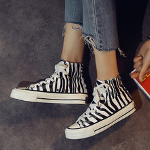 High Quality 2020 New Fashion Woman Canvas Shoes high Top Sneakers Lace up