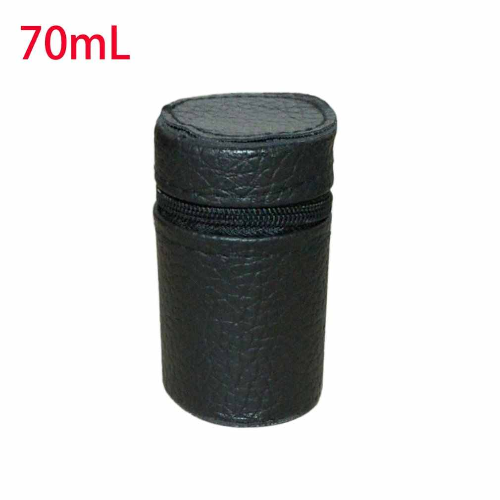 Luxury Design Lightweight Soft Leather Cover for Camping Cups Mug Water Bottle Holder Carrier With Zipper