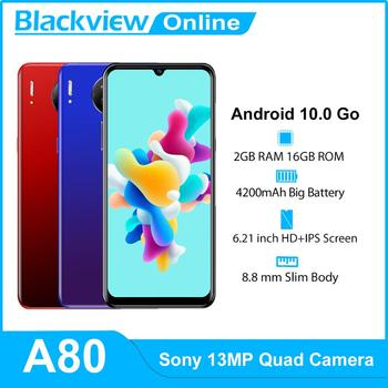 Blackview A80 Android 10 Go 4G Mobile Phone 2GB+16GB 6.21'' Waterdrop 13MP Quad Rear Camera Smartphone 4200mAh Cellphones - discount item  32% OFF Mobile Phones