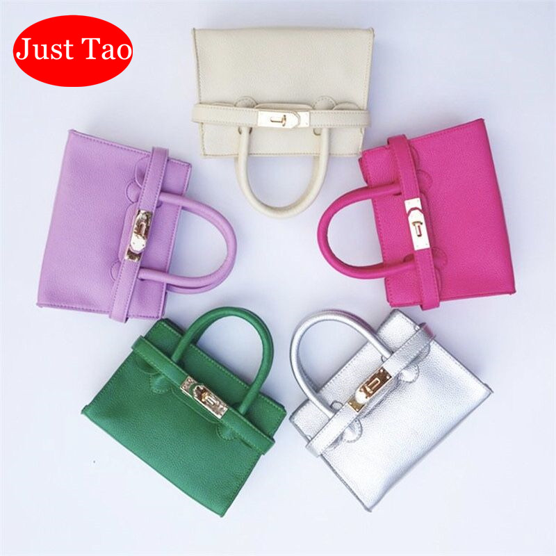 Just Tao! Fashion Handbags For Little Baby Girls Kids Mini Bb Totes Childrens Fashion Brand Purse Girls Mini Coin Wallets JT002