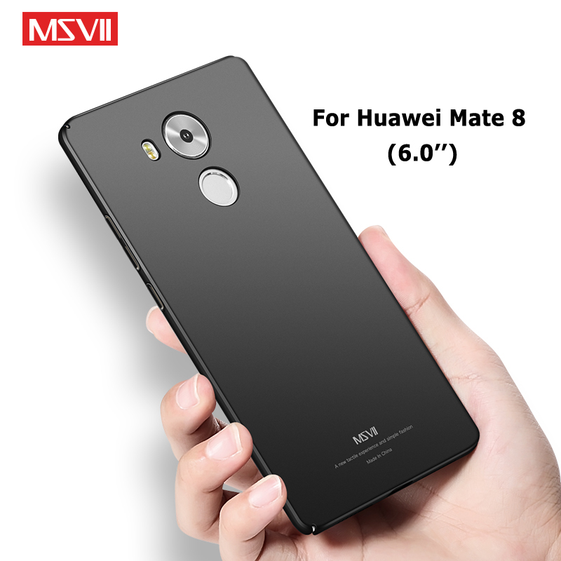 Mate 8 Case Cover Msvii Ultra thin Frosted Coque For Huawei Mate8 Case Hard PC Cover For Huawei Mate 8 Phone Cases 6.0