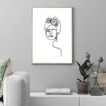 Абстрактный портретный плакат Скандинавская Картина на холсте