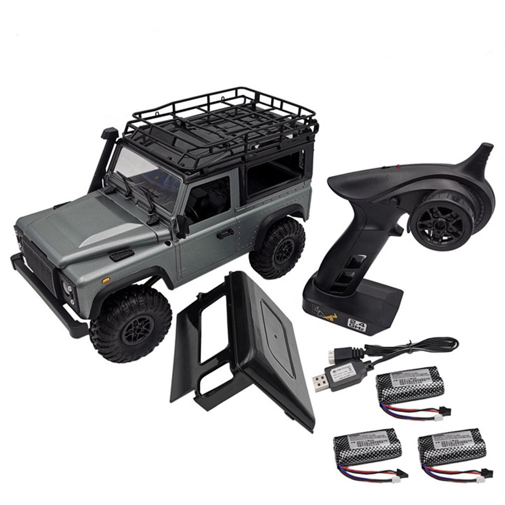 1:12 MN99s 2.4G Four Drive Remote Control Car With Turn Signal Led Lamp Roof Frame Crawler Truck Remote Control Toys