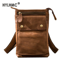 2020 New Japanese Retro Leather Small Messenger Bag Leather