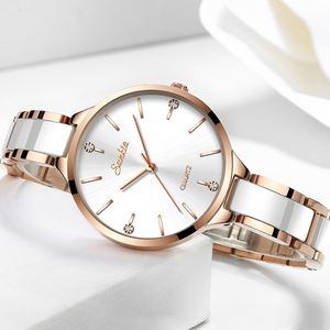 Image 3 - SUNKTA 2019 Simple Thin Rhinestone Rose Gold Quartz Watch Women Fashion Ladies Watch Womens Watches Dress Wristwatch For Women