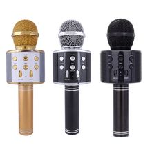 WS858 Wireless Bluetooth Karaoke Microphone Stereo Mic KTV USB Speaker Player