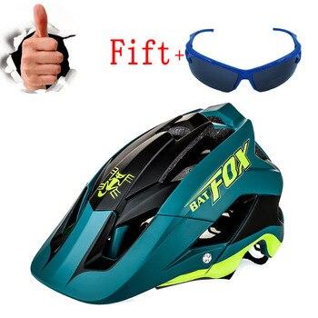 Batfox capacete de bicicleta, capacete de ciclismo de tinta preta e verde para estrada, mtb, mountain bike, tampa interna, capacete de bicicleta 1