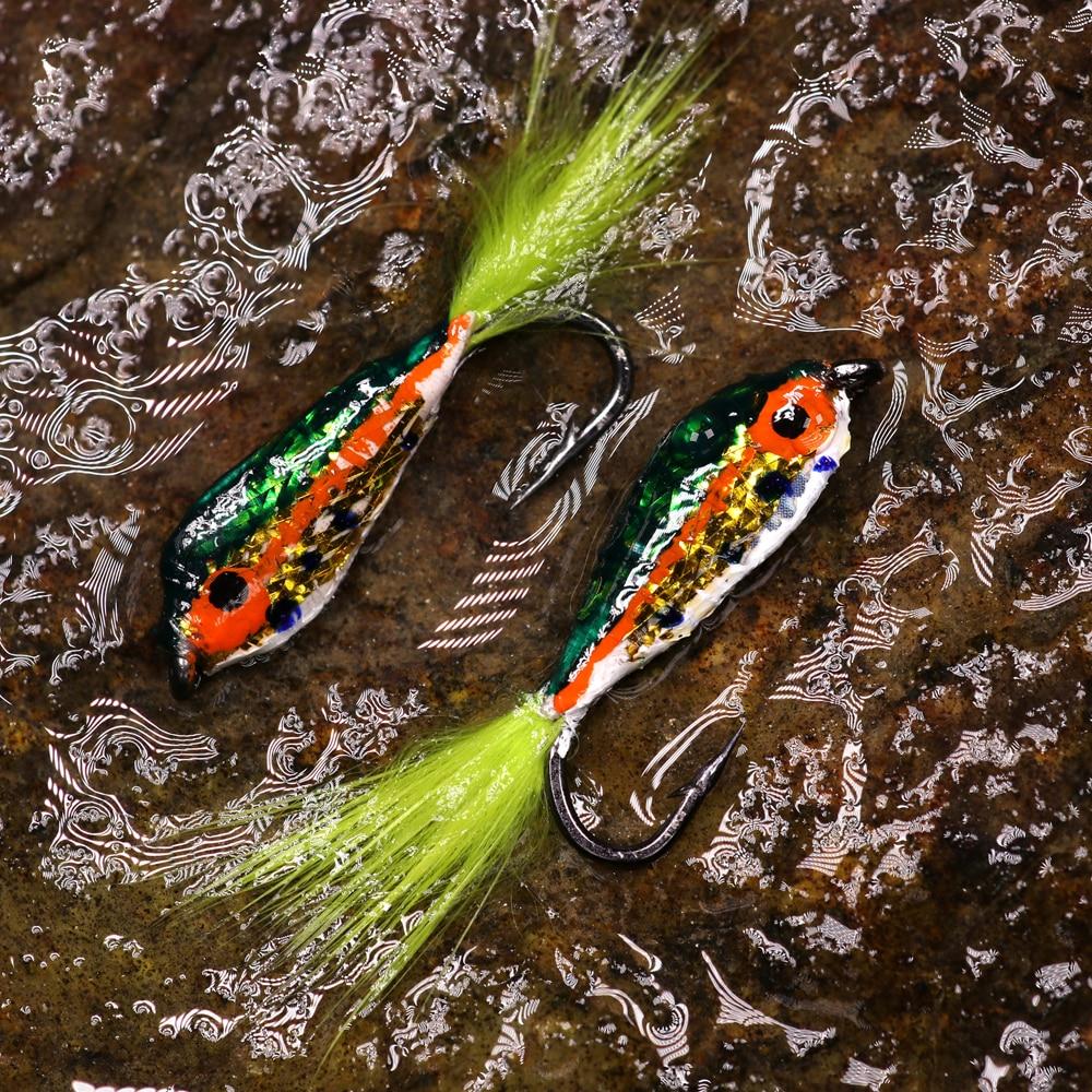 Epoxy Trout-Minnow Streamer # 6 Hatching Fischbach-Rainbow Trout NEW 3 St