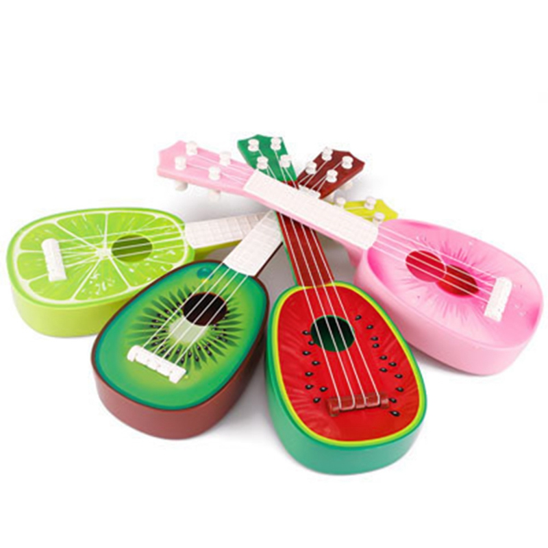 Children Kids Learn Guitar 4 String Ukulele Creative Cute Mini 32CM Fruit Can Play Musical Instruments