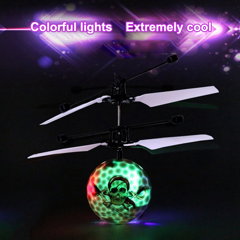 Infrared Induction Drone Flying Flash LED Lighting Ball Helicopter Child Kid Toy Gesture-Sensing No Need To Use Remote Control U