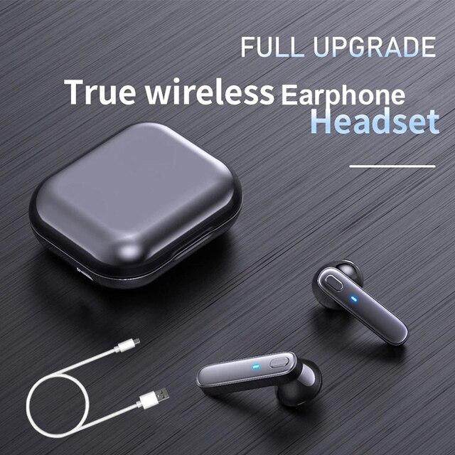 R20 TWS Earphone Bluetooth-compatible Wireless Headset Deep Bass Earbuds True Wireless Stereo Headphone With Mic Sport Earphone 2