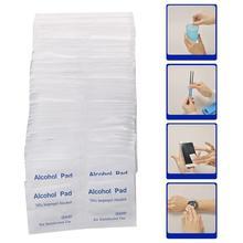 100 Pcs Alcohol Wipe Clean Pad Medical Swab Sachet Antibacterial Tool Cleanser