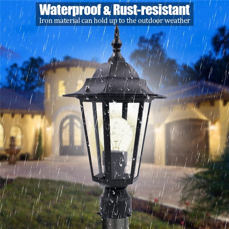 Black E27 Outdoor Garden Decoration Street Light Lantern Lamp Head For Plaza Garden Yard AC110-220V