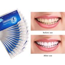 14 pçs 3d branco dentes clareamento tira profissional dentes brancos boca escova de dentes antibacteriana dental branqueamento branco tiras de dente