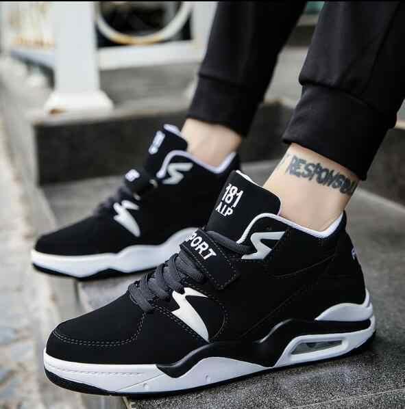 FIUGGI Erkekler rahat ayakkabılar Koşu Hava Ayakkabıları Erkekler Yastık Rahat Nefes Dantel-up Açık Istikrar Koşu Sneaker Boyutu 38- 4