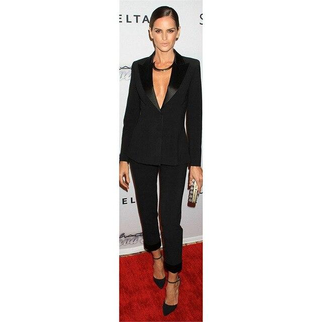 Jacket+Pants Womens Business Suit Black Slim Female Office Uniform Blazer Ladies Formal Trouser Suit 2 Piece Set Single Breasted