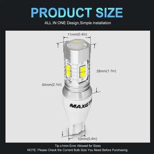 Image 3 - Luz LED de respaldo para coche bombilla de marcha atrás, luz de señal de giro, lámpara de freno, 2 uds., Chip CREE XBD 50W T15 W16W 921 912