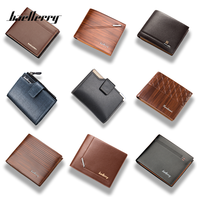Baellerry Brand 2019 Luxury Leather Men Wallet Small Short Fashion PU Gentleman High Quality Purses