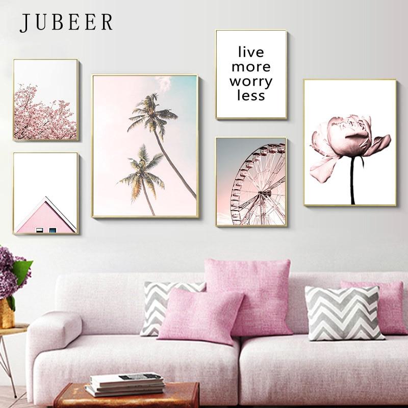 Carteles y impresiones de estilo escandinavo para cuadros de sala de estar decoración de dormitorio pinturas en lienzo decoración decorativa para el hogar