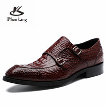 Genuine leather Men casual shoes business dress banquet suit shoes men brand brogue wedding oxford shoes for men red black(China)