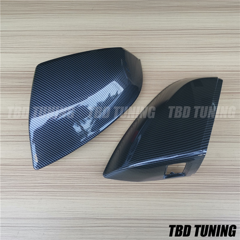 For Audi Q5 SQ5 Q7 SQ7 Carbon Fiber Look Rear Mirror Cover 2016-2020 WITH Hole