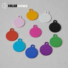 200pcs wholesale round dog ID tags engraved pet nameplate puppy pendant dog collar accessories anti-lost cat ID cards 10 colors flowgogo anti lost stainless steel dog id tag engraved pet cat puppy dog collar accessories telephone name tags pet id tags