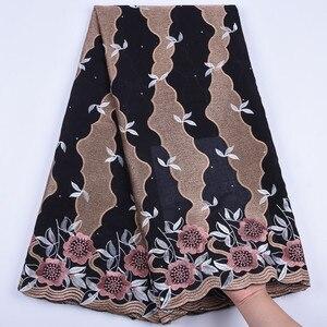 Image 1 - Tanie bawełniany materiał szwajcarski koronkowy woal w szwajcarii z kamieni afryki tkanina koronkowa typu dry Lace wysokiej wysokiej jakości nigeryjski koronki FabricA1692