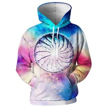 Space Galaxy 3D Print Men Hoodies for Men 3D Universe Hoodie for Geek 2019 Winter Hoodies