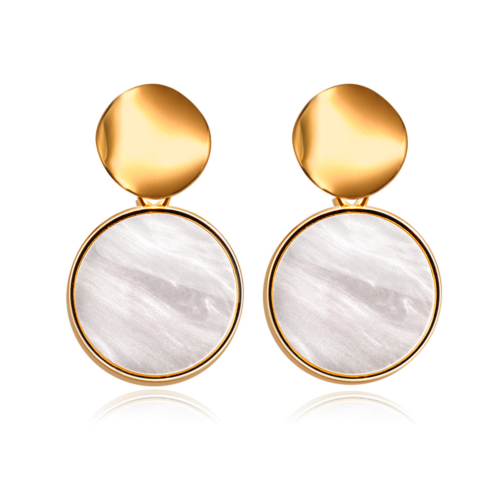 H452ca8fcf0bb4a719b70f8e4f9943e6cO - New Statement Drop Earrings For Women Fashion Gold Earrings Acrylic Geometric Red Dangle Earring Wedding Brinco Jewelry