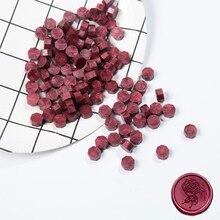 100 Pcs/Lot rétro estampage cire à cacheter perles colorées cire sceau timbres pour enveloppe Documents mariage anniversaire fête Invitation
