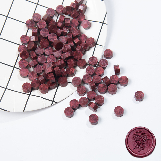 100Pcs/Lot Retro Stamping Sealing Wax Colorful Beads Wax Seal Stamps for Envelope Documents Wedding Birthday Party Invitation