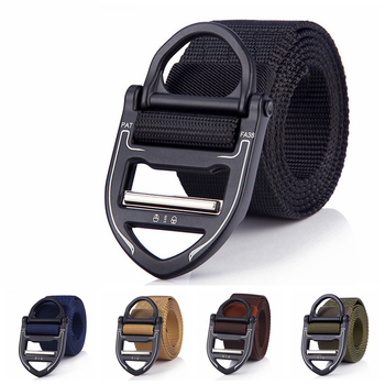thailand silver the u s marine corps sniper badges ring D-Ring Tactical Belts For Men Army Military Outdoor Hunting Metal Alloy Buckle High Quality Marine Corps Men's Training Belt