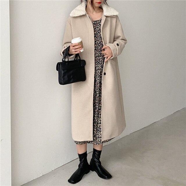Фото зимние женские свободные chic верхняя одежда повседневный кардиган цена
