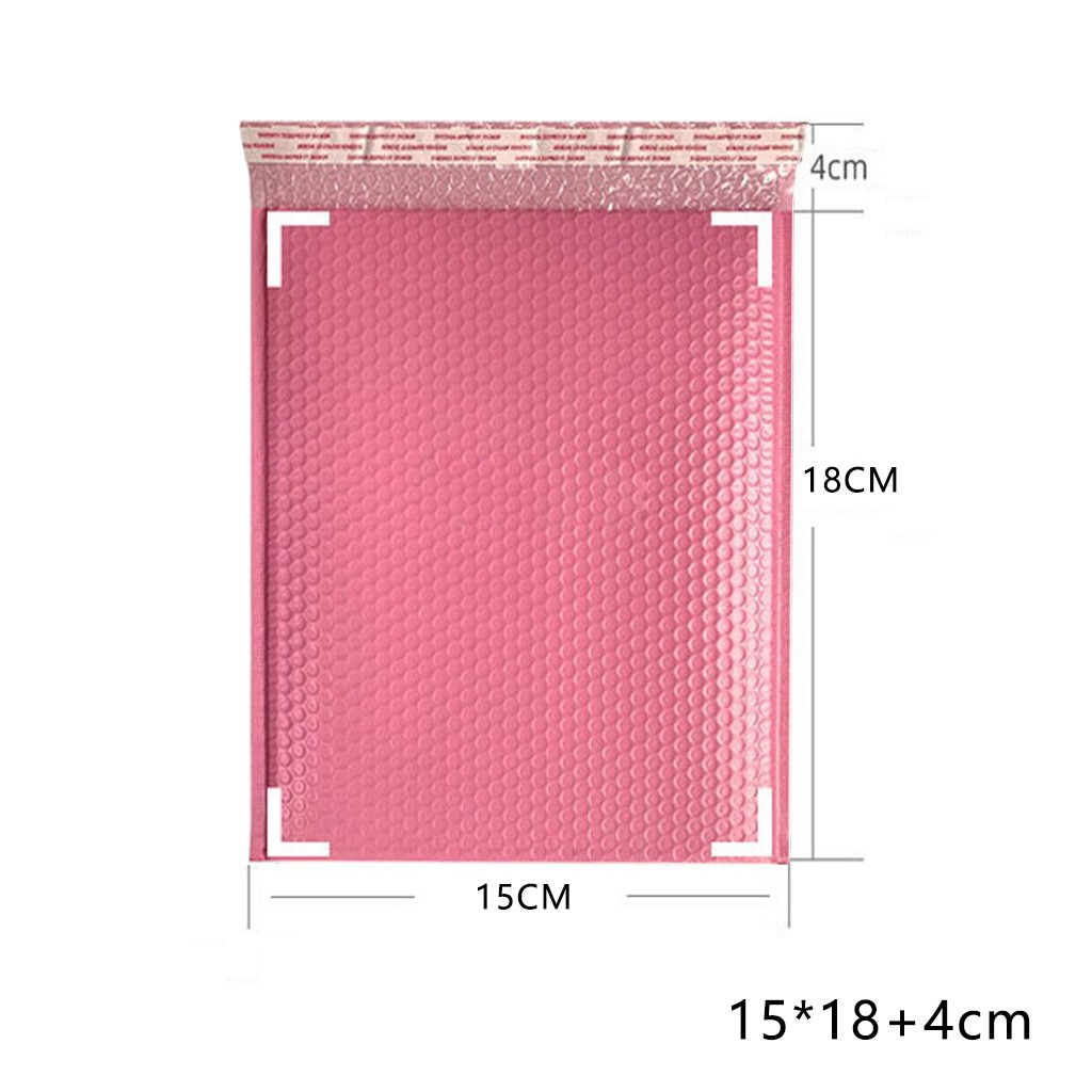 Pink,57 inch 50pcs Pink Poly Bubble Pack Mailers 5x7 Inch Padded Envelopes Mailing Bags Shipping Bags Bubble Lined Poly Mailer Self Seal