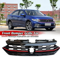 Front Bumper Racing Grille For VW Jetta MK7 / Sagitar 2019 2020 Front Honeycomb Grille GLI Style Glossy Racing Grills