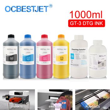 GT-3 DTG butelka na atrament odzieży tusz do brat GT-341 GT-361 GT-381 GT3 serii bezpośrednio do drukarki odzieży (6 kolorów opcjonalnie) tanie i dobre opinie OCBESTJET brother Zestaw wkładem DTG Textile Ink Garment Ink For Brother GT-341 For Brother GT-361 For Brother GT-381 GC-30K38
