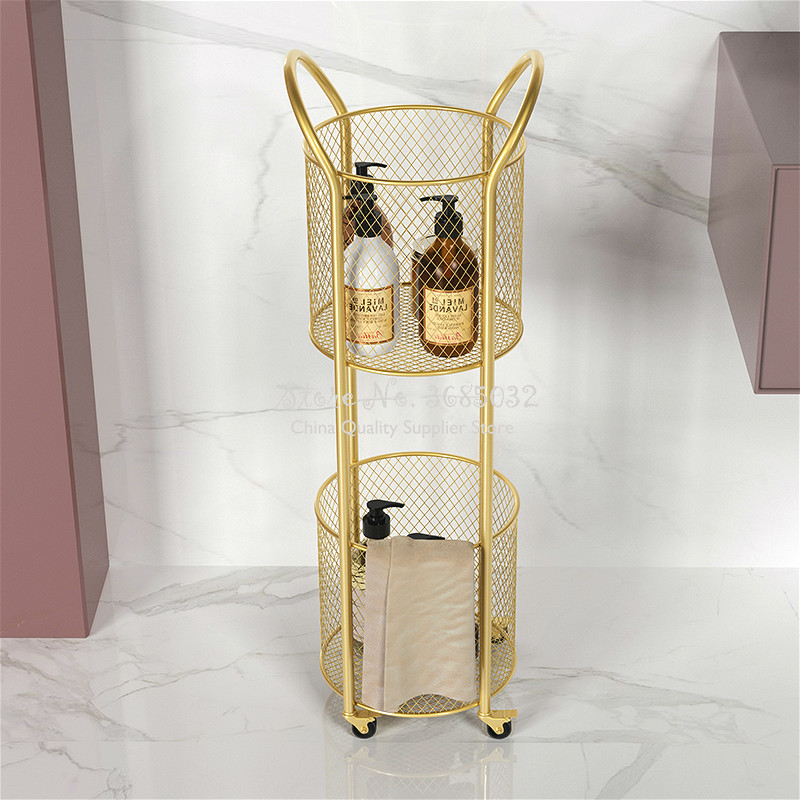 2019 Nordic Pink Multi-function Storage Shelf Coffee Table Stroller Flower Stand Living Room Mobile Sofa Side Tables Dining Cart
